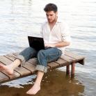 Straling laptop tast vruchtbaarheid man aan